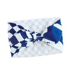 Furoshiki Ichimatsu Navy Box Wrapping Example