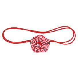 Mizuhiki Plum Knot Band Red Front