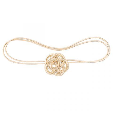 Mizushiki Plum Knot Band Gold Front