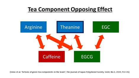 Opposing Effect of Tea Components